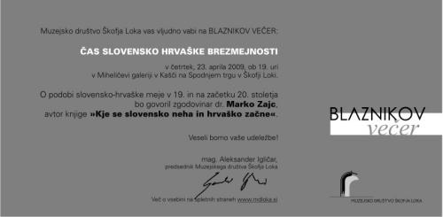 BLAZNIKOV VEČER DR. MARKO ZAJC