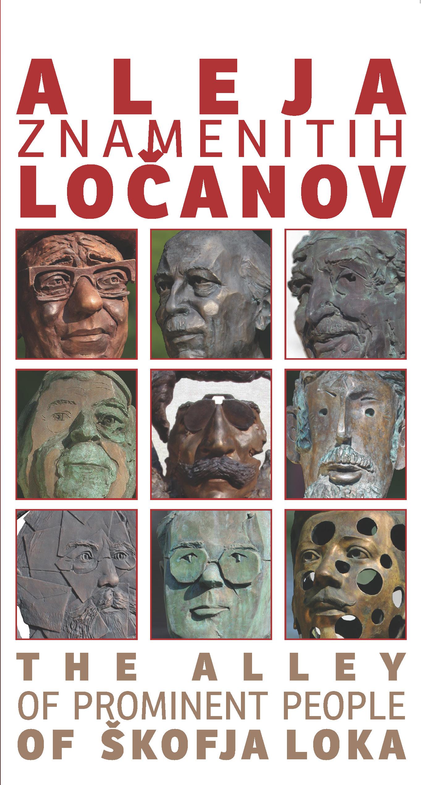 VODNIK PO ALEJI ZNAMENITIH LOČANOV Book Cover