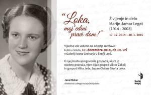 Vabilo Marija Jamar Legat