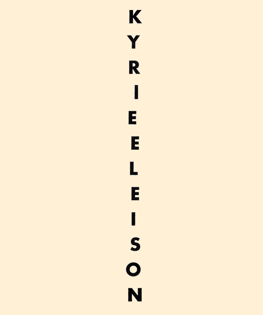 KYRIE ELEISON, Slovenski veliki teden Book Cover